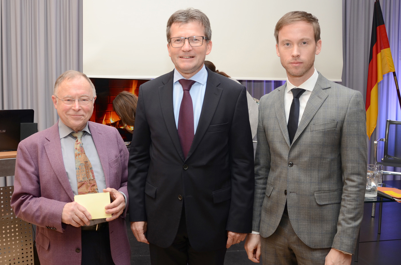 Dr. Sebastian Reddecker, CEO Von Luxembourg For Tourism, S.E. Jean Graff, Botschafter Des Großherzogtums Luxemburg, Und Moderator Rainer Bücken, Redaktionsbüro (v.r./Foto: Gero Schreier)